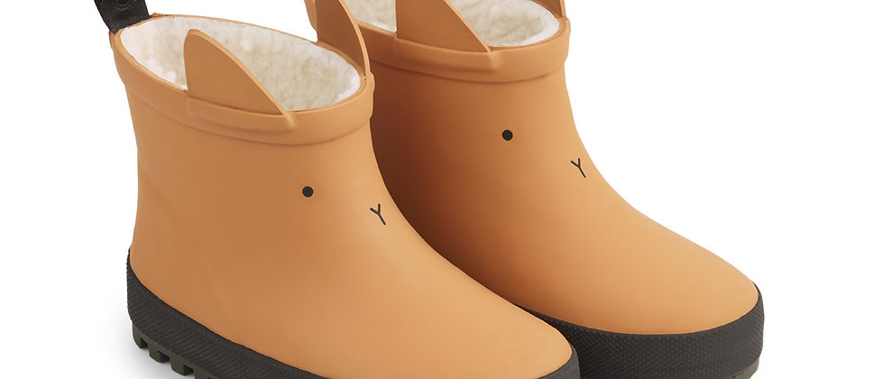 Jesse Thermo Rain Boot Mustard/Black