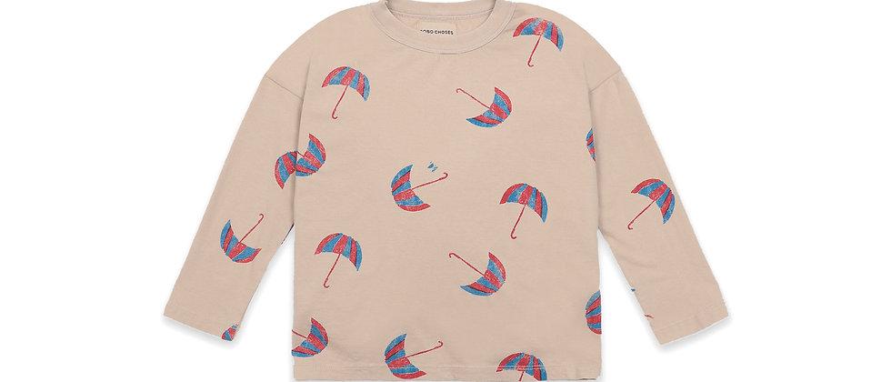Bobo Choses - Umbrellas All Over Long Sleeve T- Shirt