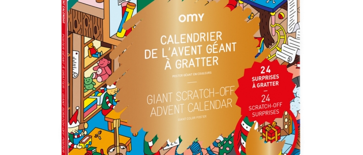 OMY - Advent Calendar  - Scratch Off  Poster - Christmas