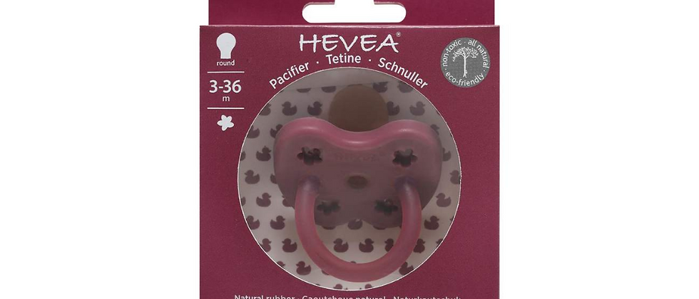 Hevea - Pacifier Ruby Red Orthodontic