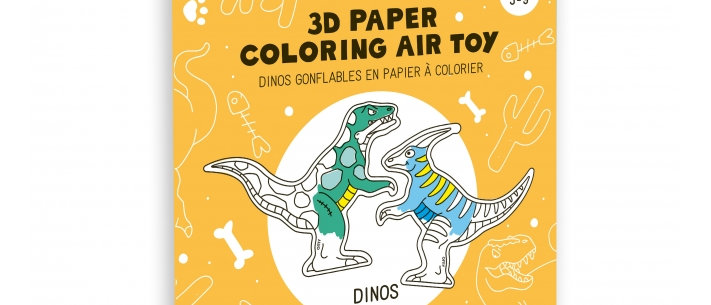 OMY - 3D Coloring Air Toy DINOS
