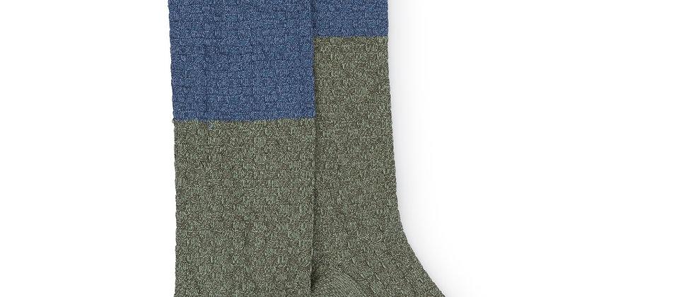 Blue and Green Long Socks