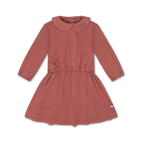 REPOSE AMS - Peter Pan Dress Washed Brick