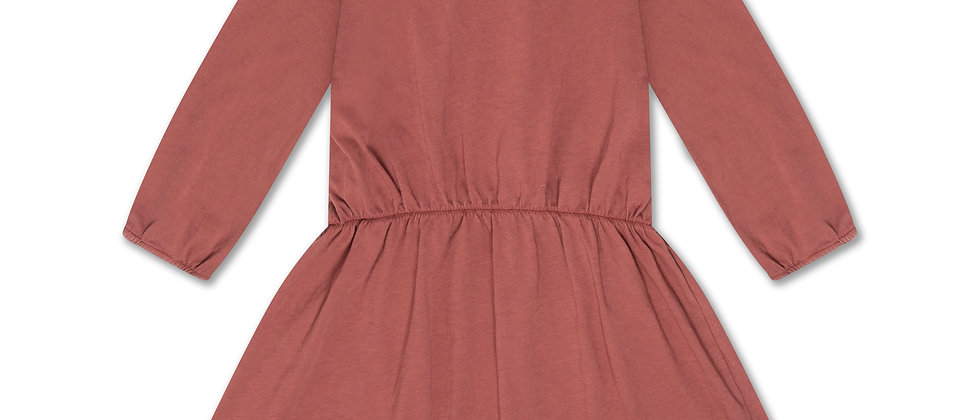 REPOSE AMS - Peter Pan Dress Washed Brick
