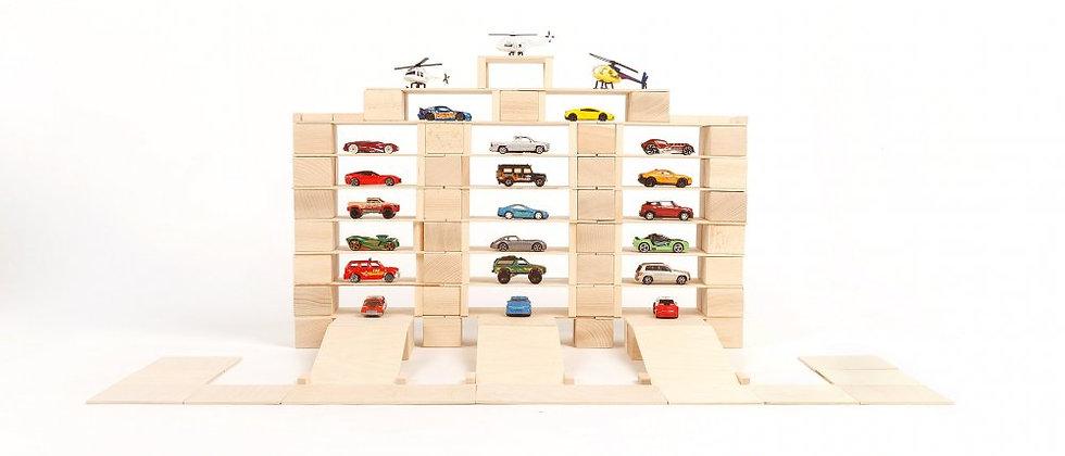 Medium Pack wooden blocks 166 pieces