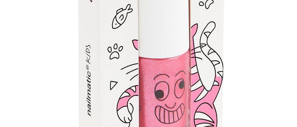 Water-based nail polish for kids - Kitty - candy pink glitter
