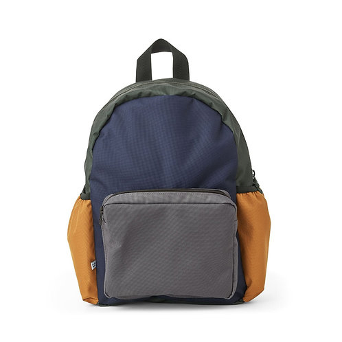 Wally School Back Pack Navy Mix