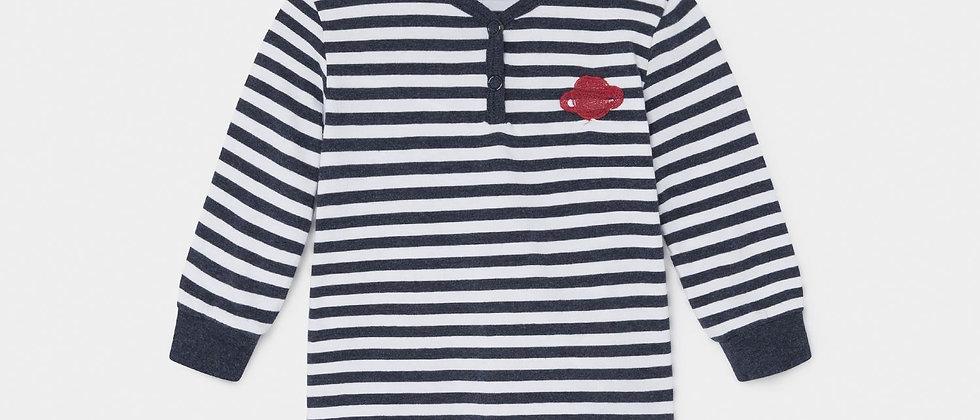 Saturn Button Long Sleeve T-Shirt