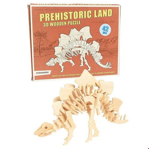 Stegosaurus 3D Wooden Puzzle