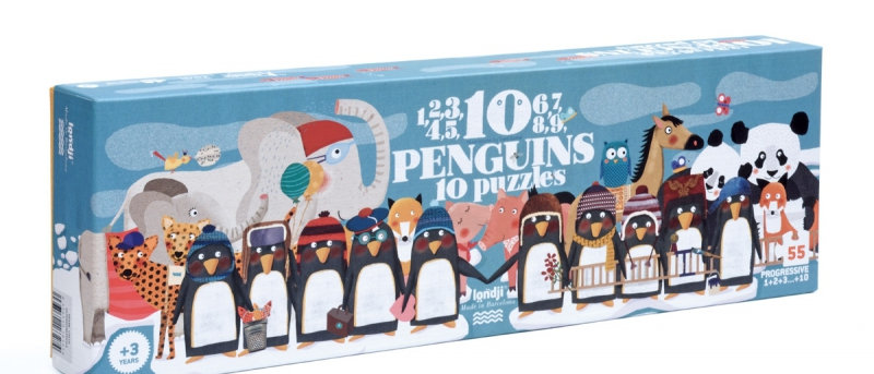Londji - 10 Penguins Puzzle