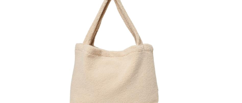 Chunky Teddy Mom Bag - Creme