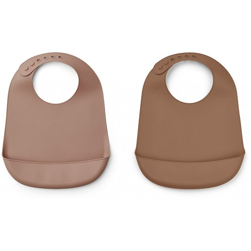 Liewood - Silicone Bib Solid - 2 Pack