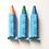 Thumbnail: Kitpas - set of 3 colour markers for bath - orange, green, blue