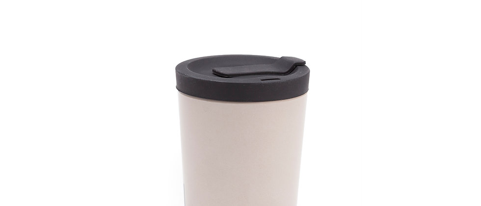 Bamboo Reusable Takeaway Cup 350ml Stone