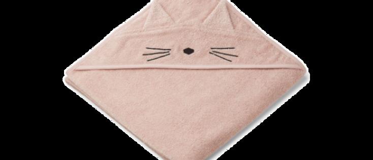 Liewood - Augusta Hooded Junior Towel - Cat rose
