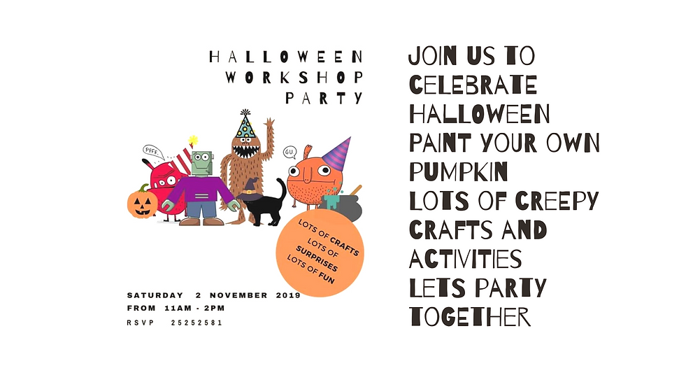 Join us to celebrate HalloweenPaint your