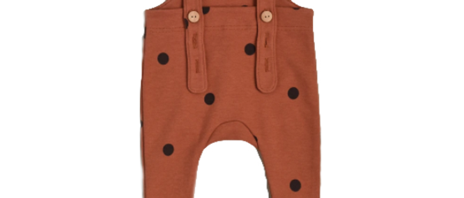 Organic Zoo - Earth Dots Salopettes With Contrast Feet