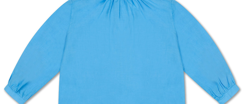 REPOSE AMS - Ruffle Blouse Bright Sky Blue