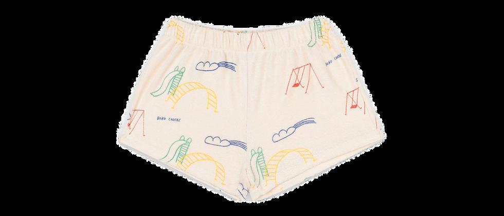 Bobo Choses - Playground All Over Terry Fleece Shorts