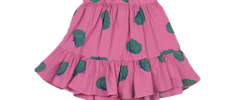 Bobo Choses - Tomatoes All Over Ruffle Mini Skirt