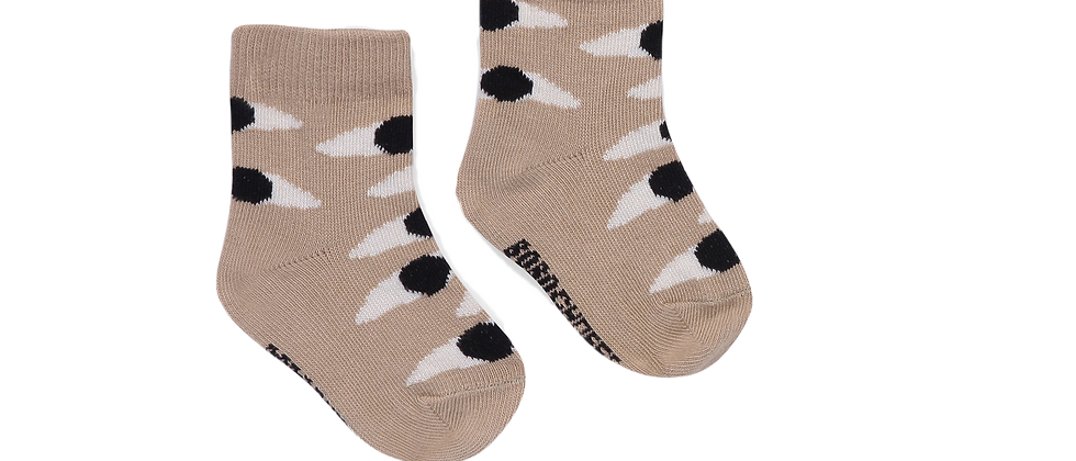 Bobo Choses - Eyes Beige Baby Socks