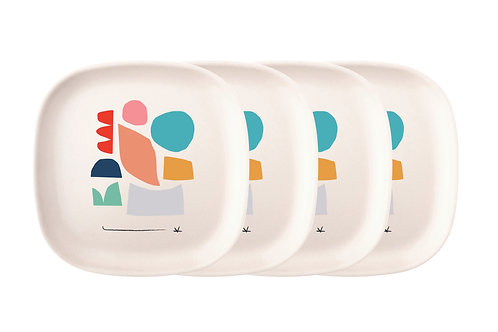 Color Series Medium Plate Set of 4