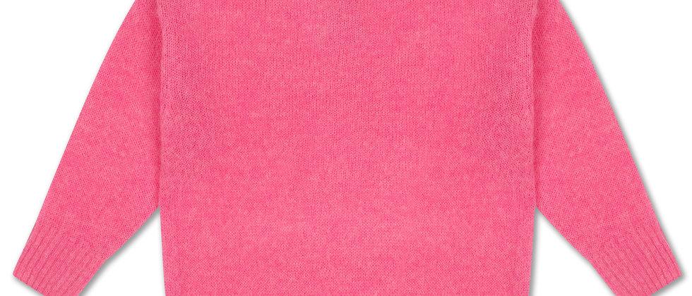 REPOSE AMS - Knit Boxy Sweater Glory Pink