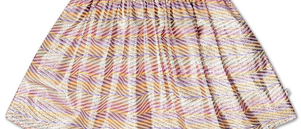 REPOSE AMS - Short Skirt Zig Zag Sparkle Rainbow