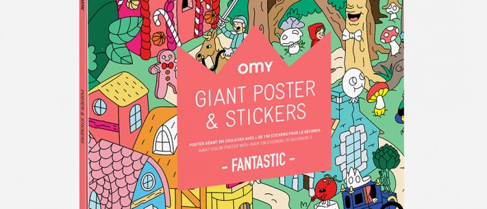 OMY - Giant Poster & Stickers Fantastic
