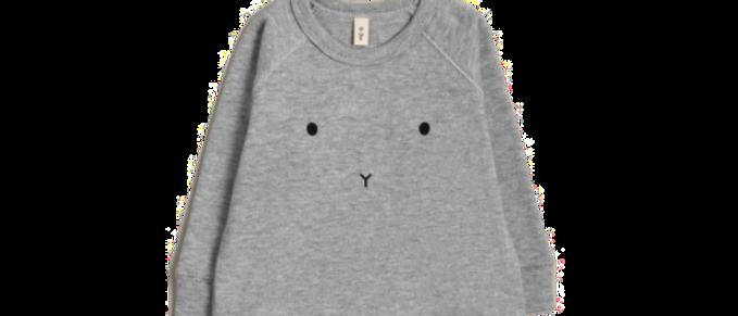 Organic Zoo - Grey Melange Bunny Sweatshirt