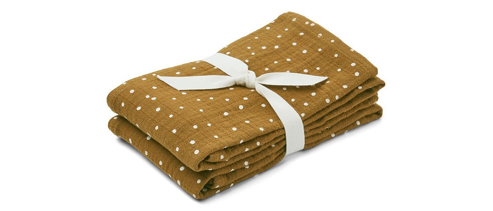 Lewis Muslin Cloth 2 Pack - Confetti olive