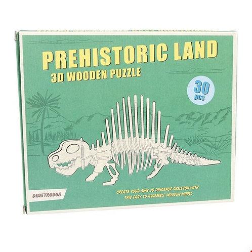 Dimetrodon 3D Wooden Puzzle
