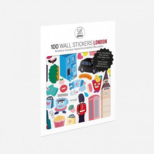 100 Wall Stickers - London