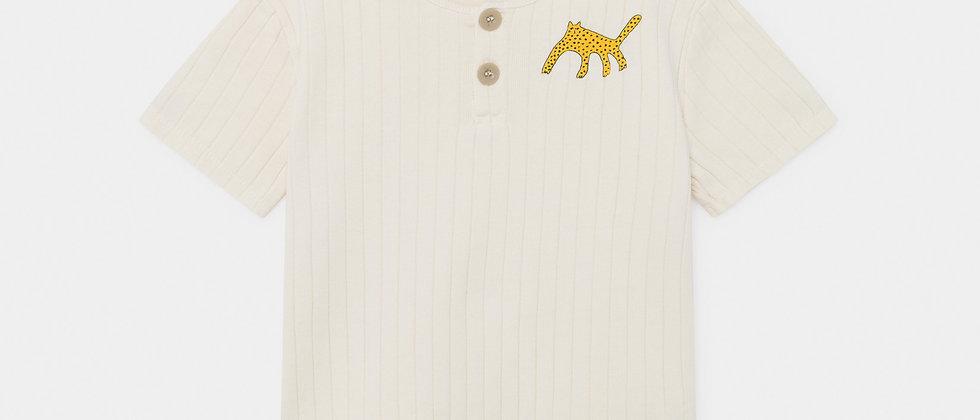 Leopard Buttoned T-Shirt