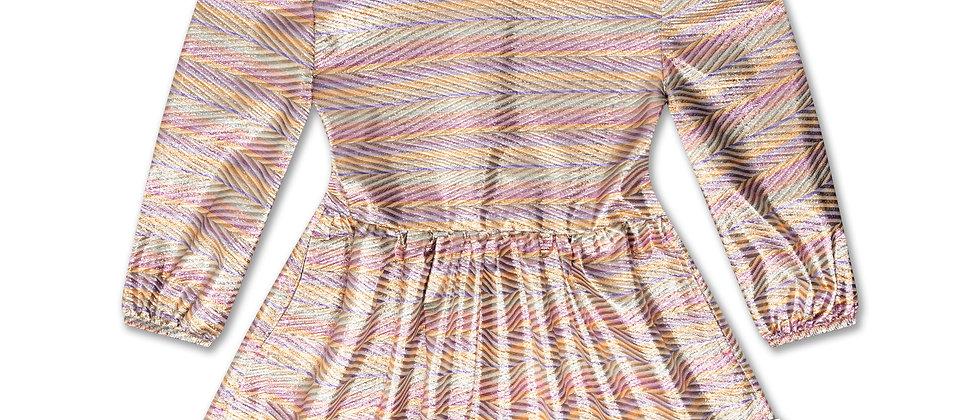 REPOSE AMS - Turtle Dress Zig Zag Sparkle Rainbow