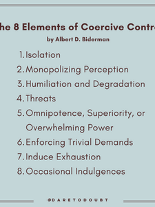 8 Elements of Coercive Control