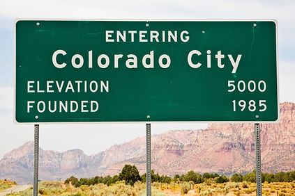 Colorado City City Limits Sign Founded b