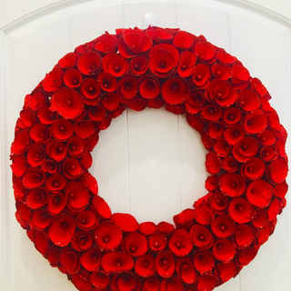 beautiful all red wreath
