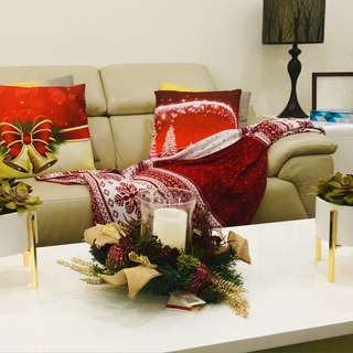 Living room christmas deco