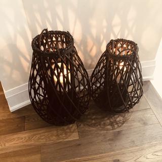 Large Basket candle holders