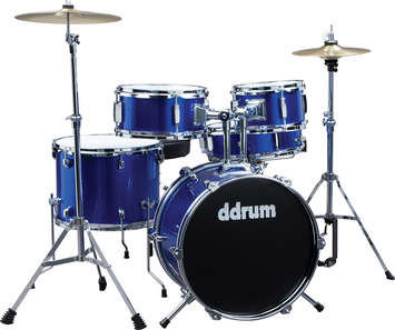 ddrum D1 Junior Drum Set - Police Blue Complete set