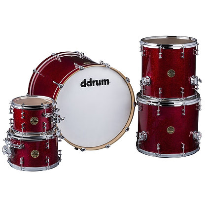 ddrum Dios Red Sparkle 7PC Shell Pack