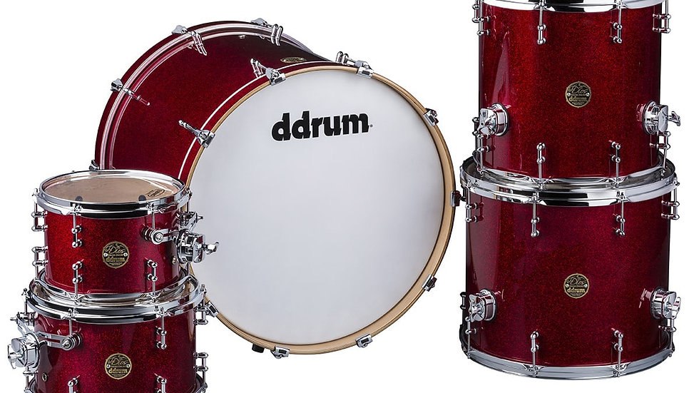 ddrum Dios Red Sparkle 5pc Shell Pack