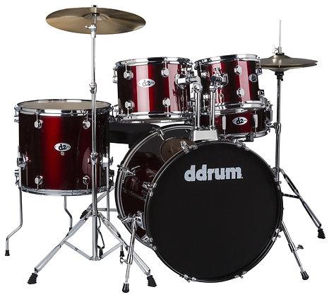 ddrum D2 Drum Set - Blood Red Complete set