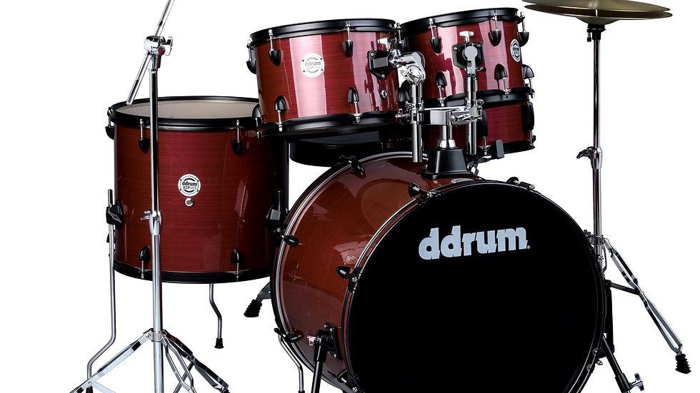 ddrum D2P Drum Set - Red Pinstripe Complete set