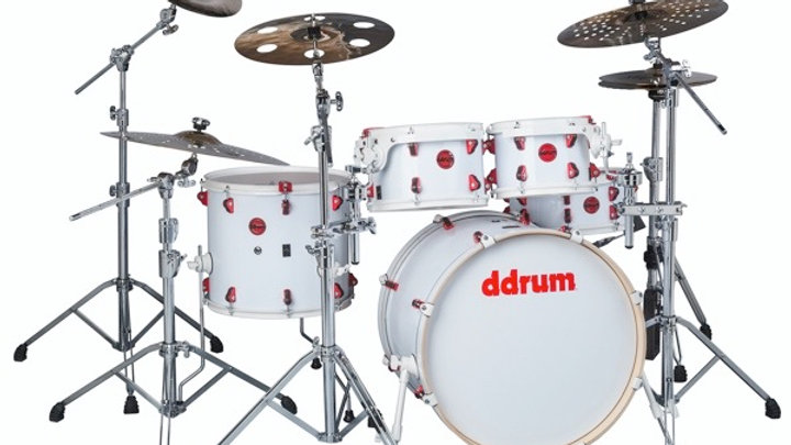 ddrum Hybrid 5 White Shell Pack