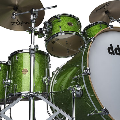 ddrum Dios Emerald Green Sparkle 6pc (w/ matching snare)