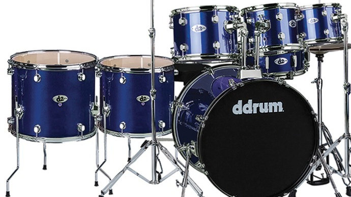 ddrum D2 Drum Set - Police Blue (7 piece) Complete set