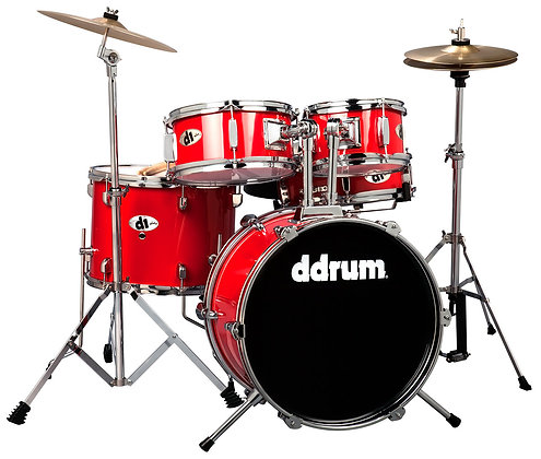 ddrum D1 Junior Drum Set - Candy Red Complete set