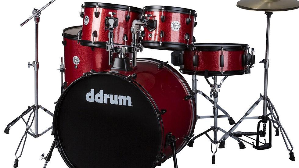 ddrum D2P Drum Set - Red Sparkle Complete set